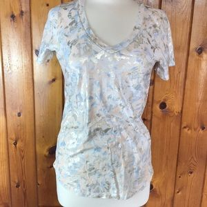 Sol Angeles Anthropologie T gold foil Like New!